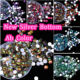 Clear Resin Ab Rhinestones XULIN Hot Sale 3mm 4mm 5mm 6mm Crystal AB Clear Non HotFix Foiled Back Plastic Black Resin Rhinestone For Nail Art D112