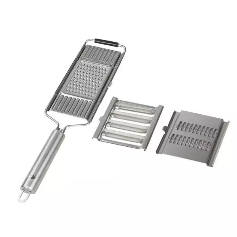 A718 Multi-purpose Manual Vegetable Cutter Stainless Steel Shredder with Handle Kitchen Utensils Portable Vegetable Grater