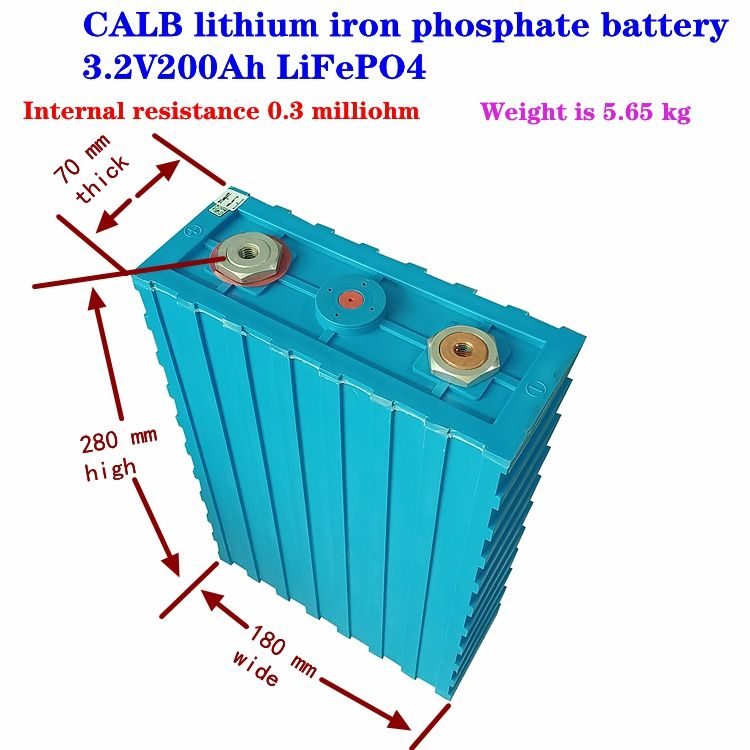 Rechargeable 3.2v200ah LiFePO4 Lithium iron phosphate battery for car