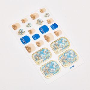 NO.32 Wholesale new fashion shiny metal nail foot sticker Environmentally safe nail foil foot sticker