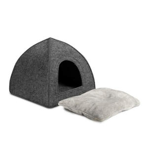 16 X 16 X 17 Inches Felt Pet Bed For Kittens And Small Dogs