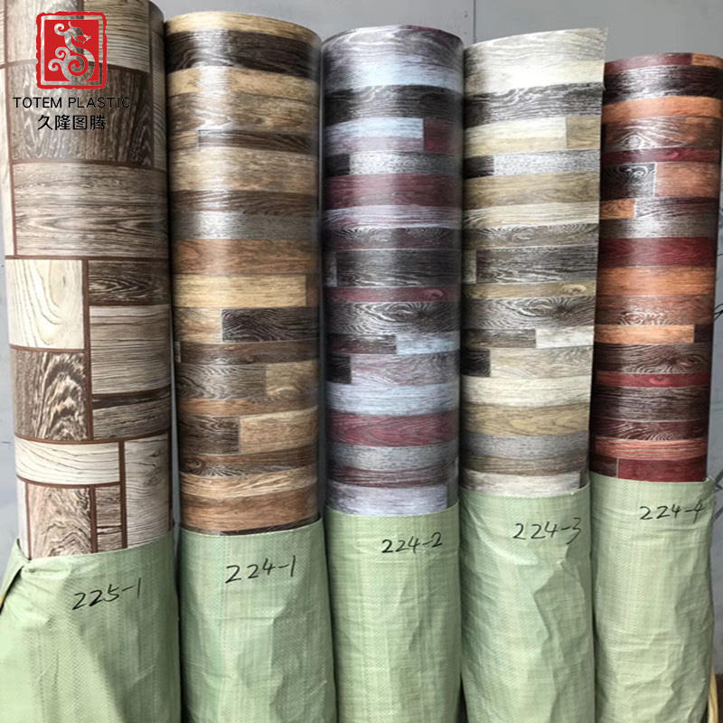 70 g Cheap Price Of Vinyl Floor Pvc Flooring Roll That Looks Like Wood