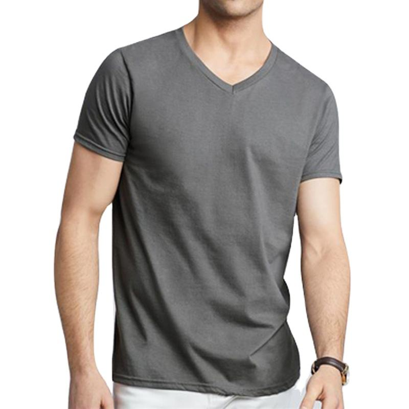 2021 New Design Best Quality Solid Color V- Neck Short Sleeve T Shirt with Factory Whole sale Price From Bangladesh