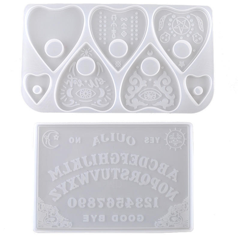 Cheap Heart Shapes Kit Extra Large Ouija Resin Molds Silicone of Handaking
