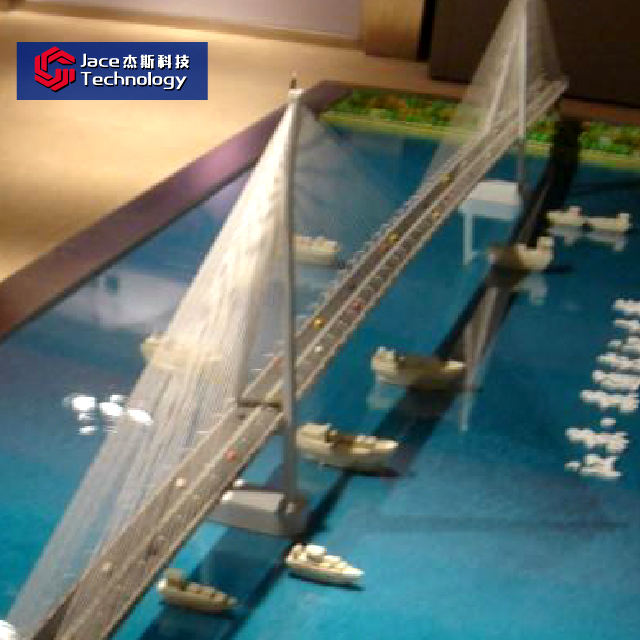 China top factory abs & acrylic 3d bridge model building architecture for transport facilities