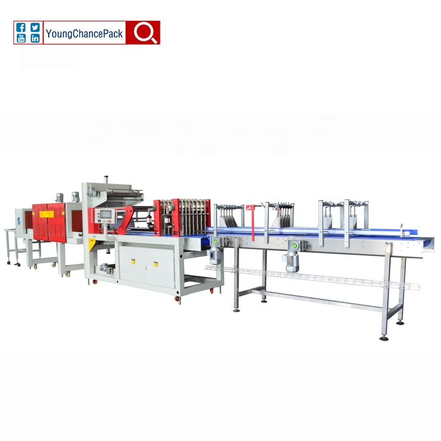 Moisture Proof Feature Material LLDPE Film Shrink Wrap Packing Machine for Bottle Water Beverage Juice Beer Milk