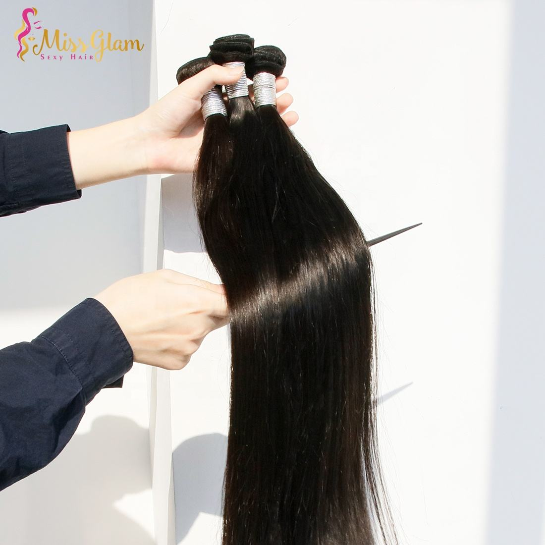 100% Unprocessed Straight Silky Human Hair Wave Bundles Peruvian/brazilian/India Hair Extensions virgin cuticle aligned hair