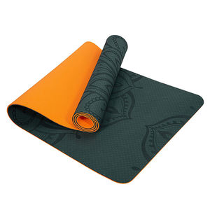 custom yoga mats with logo Wholesale Non Slip Eco Friendly Dropship Custom 6mm 8mm 10mm Double Layer tpe yoga mat