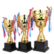 Wholesale custom soccer cup award grammy trophy, cheap plastic racing trophy cup