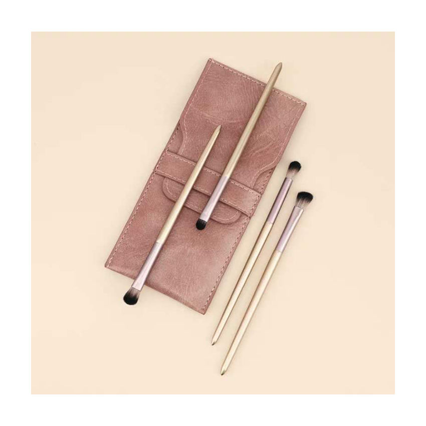 Custom Travel <span class=keywords><strong>Pu</strong></span> <span class=keywords><strong>Leer</strong></span> Make Up Brush Set Pouch Houder <span class=keywords><strong>Cosmetische</strong></span> Bag Fashion Cover
