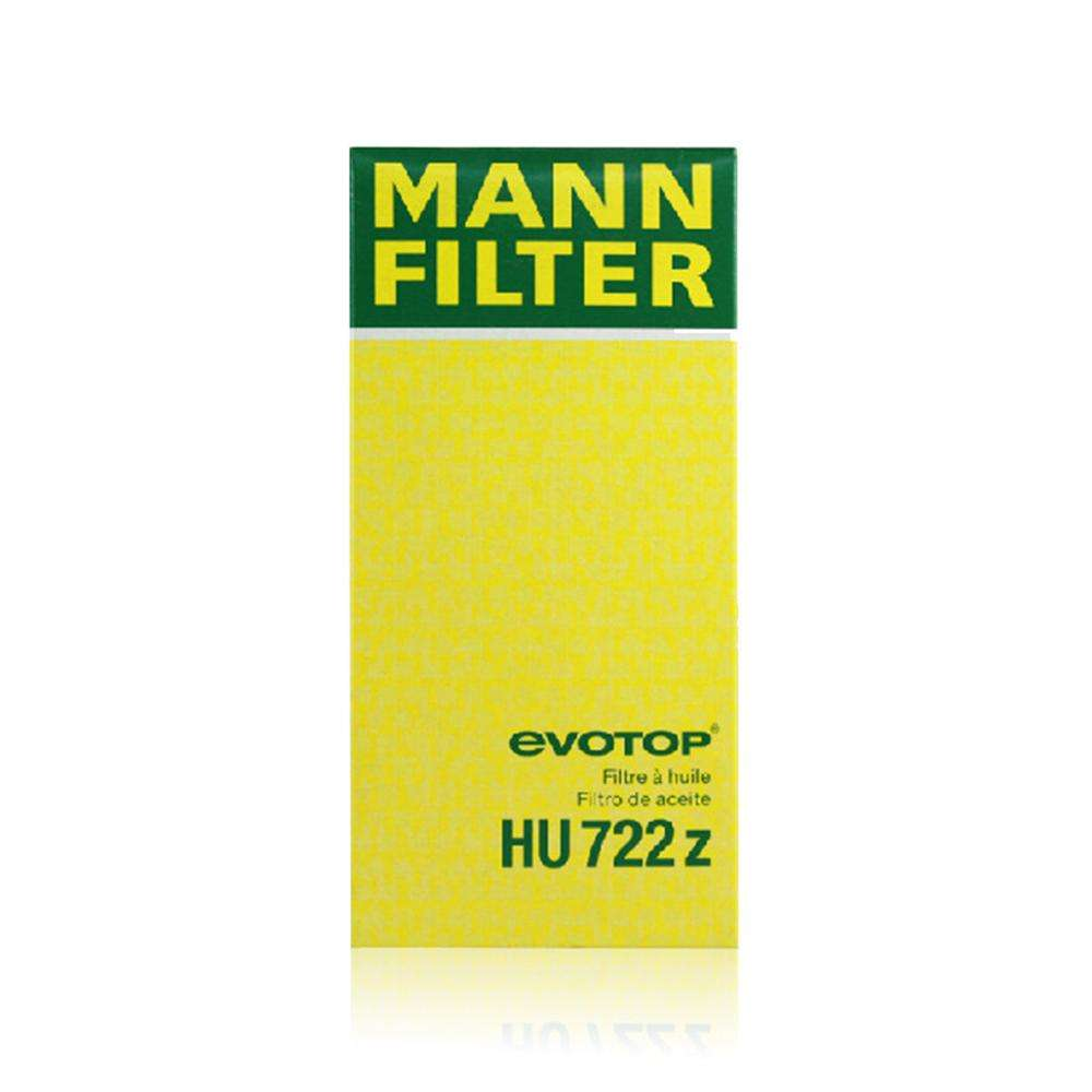 Mann Filter HU 722 Z No Metal Engine Oil Filter Compatible for AUDI A4/A6/A8 Saloon,A4/A6 Avant,A4/A5/A8/Q5/Q7