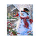Factory wholesale custom home effect wall decoration 2019 5D DIY diamond drawing card tool set diamond painting snowman animal