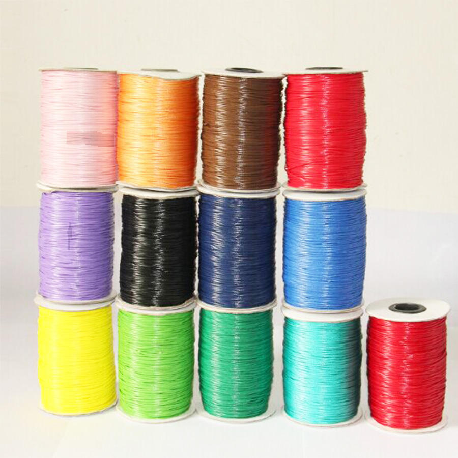 wholesale DIY high strength wax thread 1mm cotton waxed thread sewing waxed