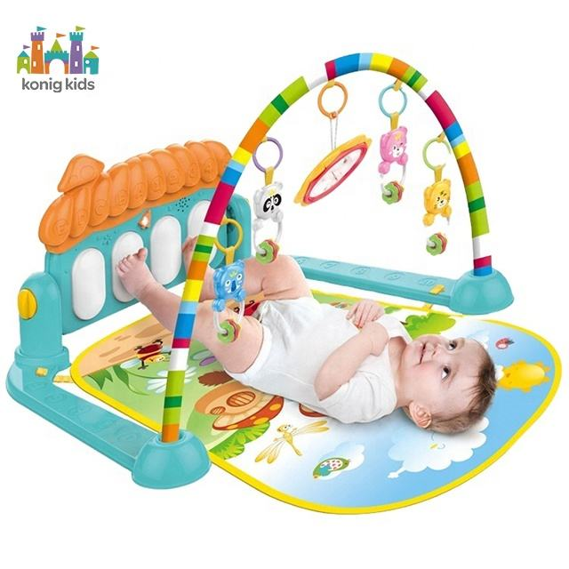 Wholesale musical baby piano keyboard play mat toy multi-function baby piano gym mat