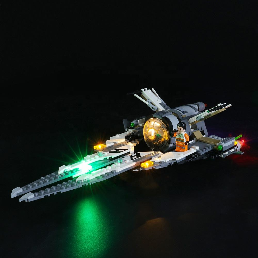 Briksmax Led Light Kit Voor <span class=keywords><strong>Lego</strong></span> Black Ace Tie Interceptor Met <span class=keywords><strong>Lego</strong></span> 75242 Led-Niet <span class=keywords><strong>Lego</strong></span> Set