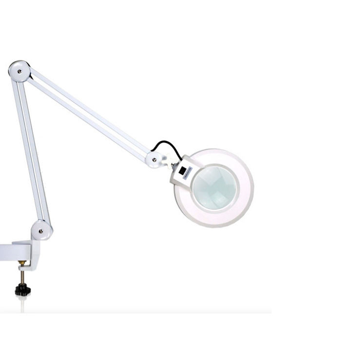 Magnifying Desk Lamp for Manicure Dental Table Top LED Magnifying Lamp