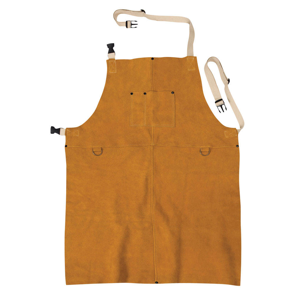 Heat Resistant Cow Split Leather Welding Apron for Welders / Workwear Mens Leather Welding Apron