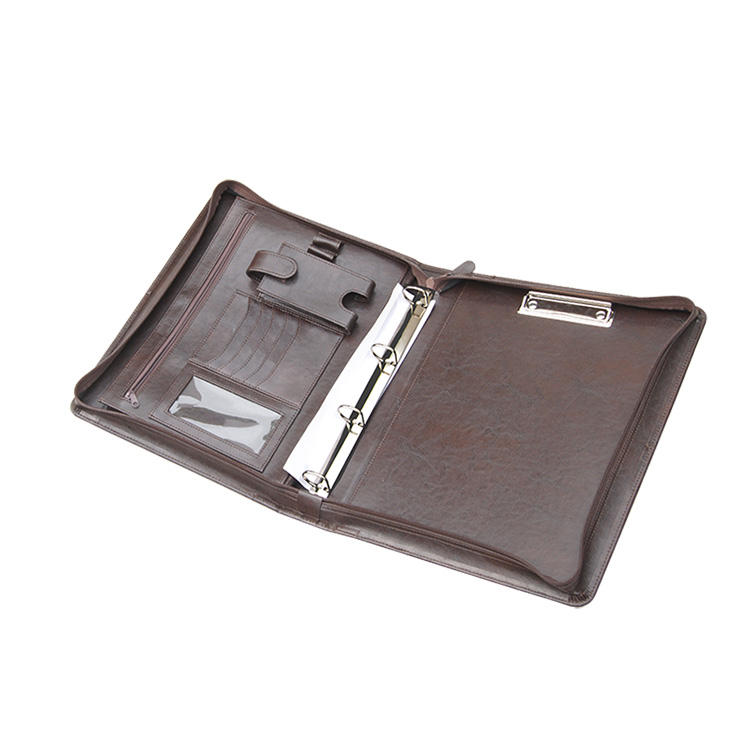 3-Ring Binder Portfolio, Leather Legal Pad/Notepad Padfolio Case for Business Daily & Travel,