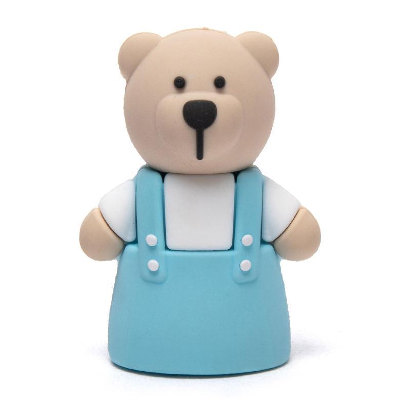 KID SICURO VERNICE carino orso personalizzato sacchetto di scuola di colore manuale singolo foro matita animale <span class=keywords><strong>temperamatite</strong></span>