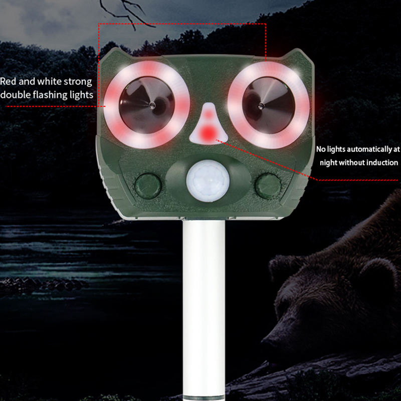 Outdoor Waterproof Rat Mouse Mole Snake Rodent Repellent Mousetrap Mice Repeller Ultrasonic pest repeller