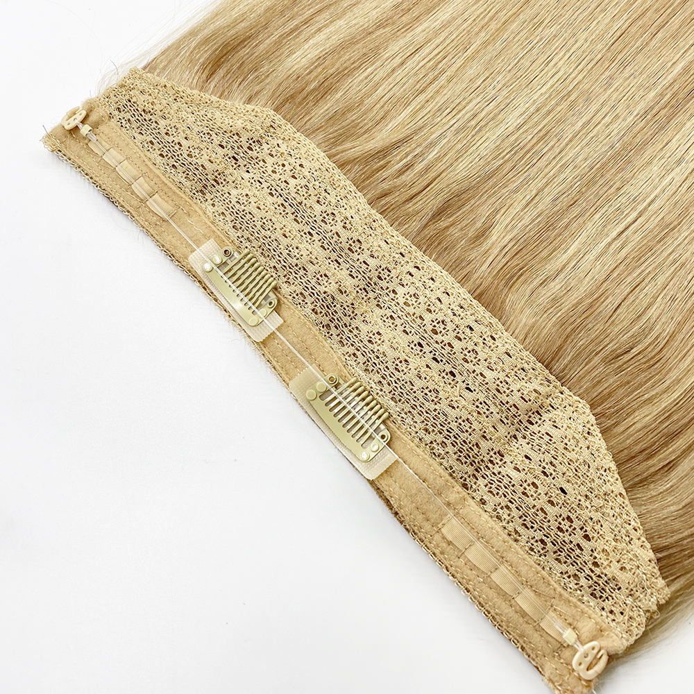 New Design Perfect Blending Top Quality Halo Hair Extensions 100% Human Hair Invisible Halo Hair Extensions