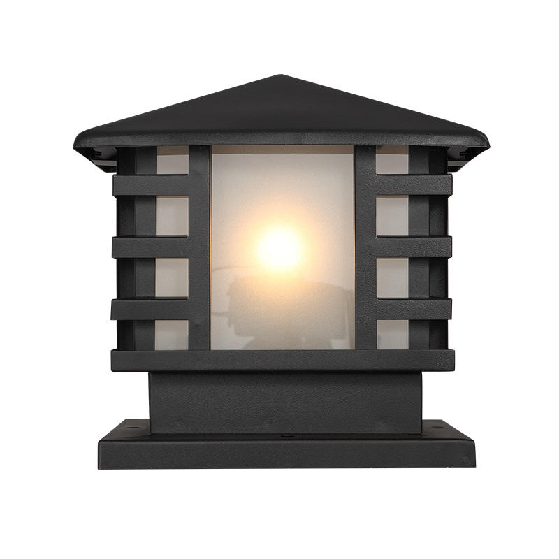 China supplied retro classic style IP54 pillar lights led post lamp