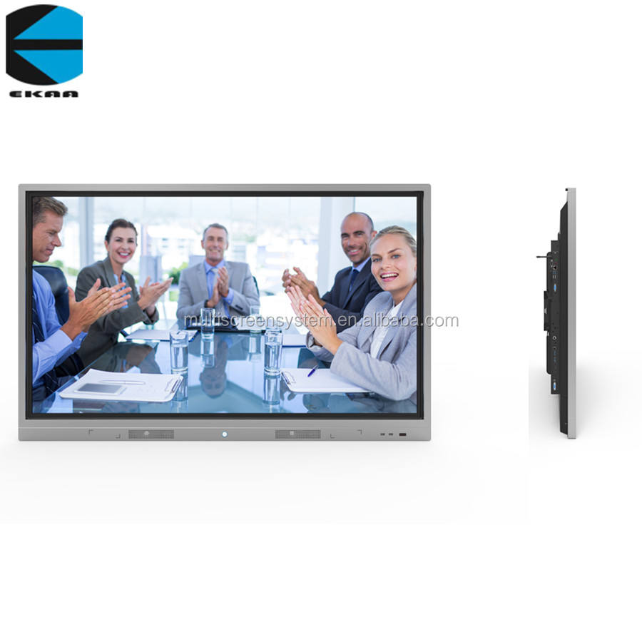 EKAA 55 65 75 86 98 inch touch panel LED LCD Display Monitor Interactive Flat Panel Touch Screen Smart TV board
