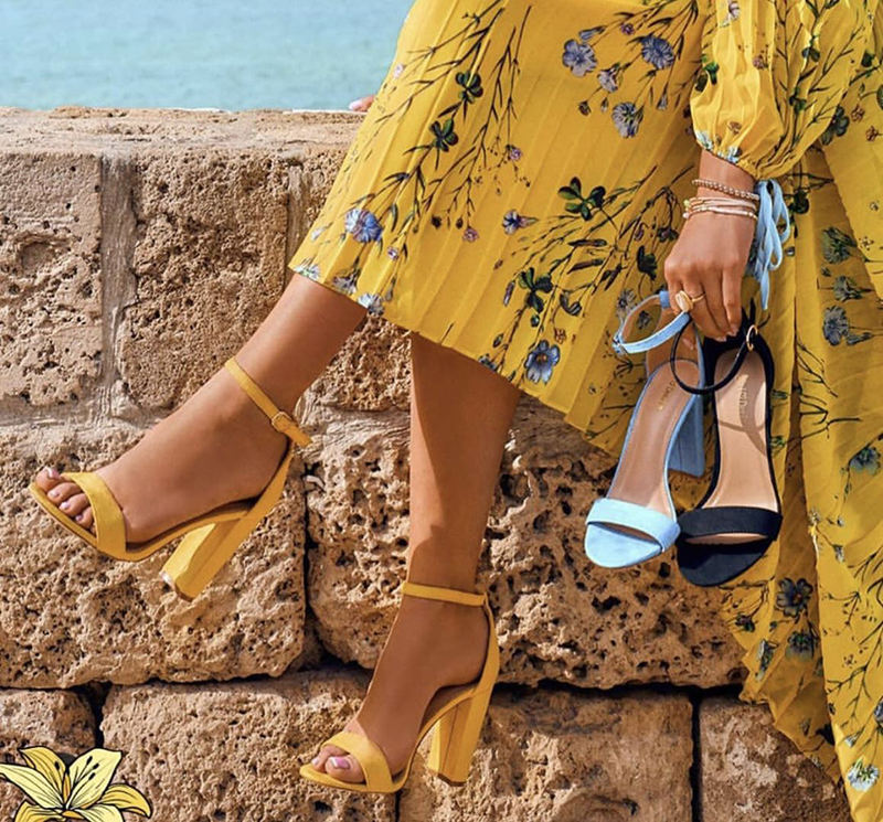 2020 New Summer Women Gladiator Buckle Strap Cover Heel Fashion Chunky Ladies Sandals Ankle Strap Footwear pumps dress shoes