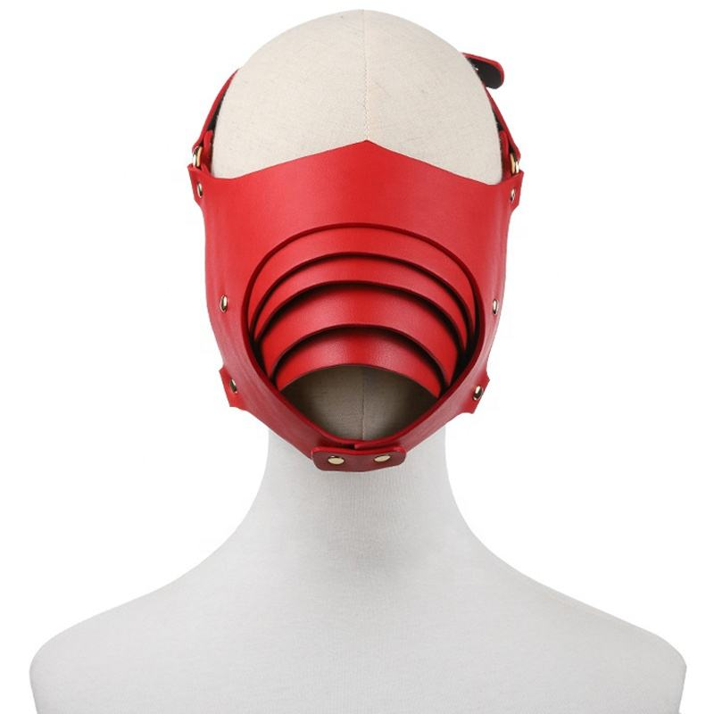 New Design PU Leather Men Women Sexual Flirting BDSM Bondage Mask Sex Blindfold Eye Mask