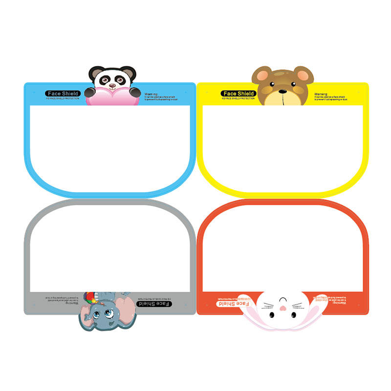 disposableface shield with clear polycarbonate visor Cartoon design Children protective isolation face shield