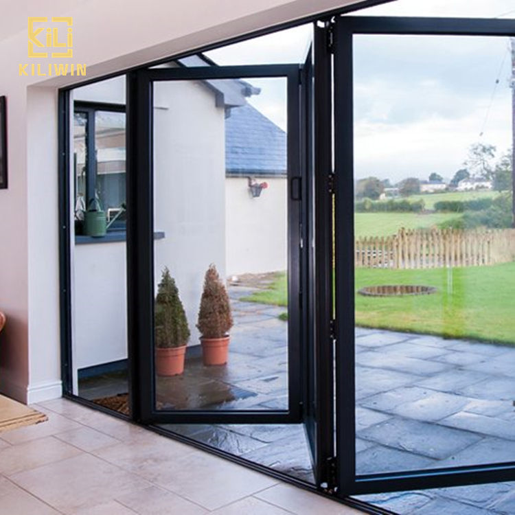 Australian standard new bifold windows and doors double glass modern designs aluminum folding doors exterior for sri lanka