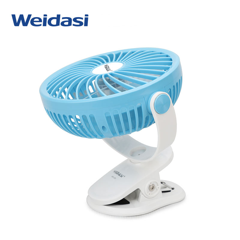 New style 360 degrees rotation rechargeable battery small desk fan with USB input port
