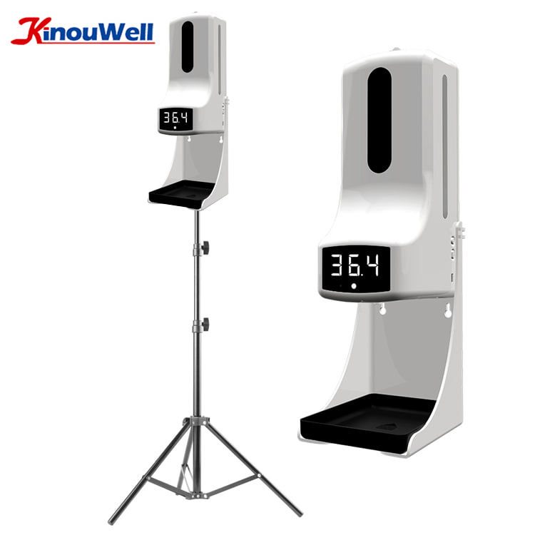 K9 Pro Wall Mount Auto Detect Temperature Thermometer, K9 Pro Hand Sanitizer Body Temperature Detection with Soap Dispenser