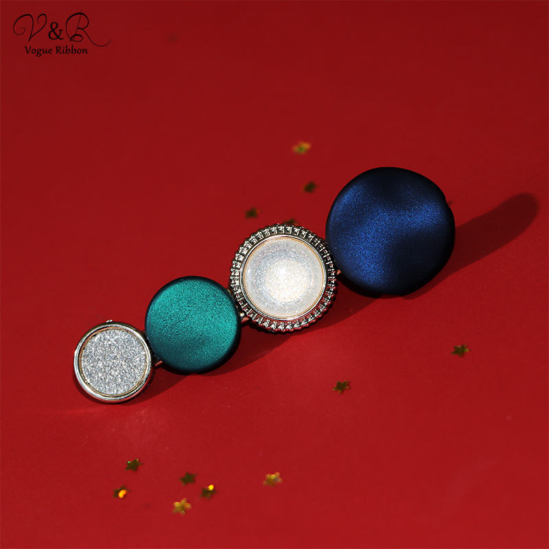 V&R Hair Jewelry Fashion Hair Accessories Gold Plated Korean Style Acrylic Resin Hair Clip for Girls