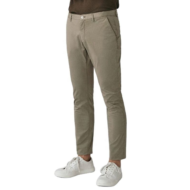 Chino New Design Wholesale Men Formal Trouser Top Brand Winter Slim Fashion Stock Man's Cotton Twill Casual Pant