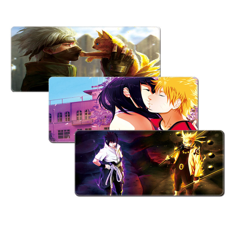playmat NARUTO custom logo printed Game computer super large natural rubber original customized lock edge multi-color mouse pad