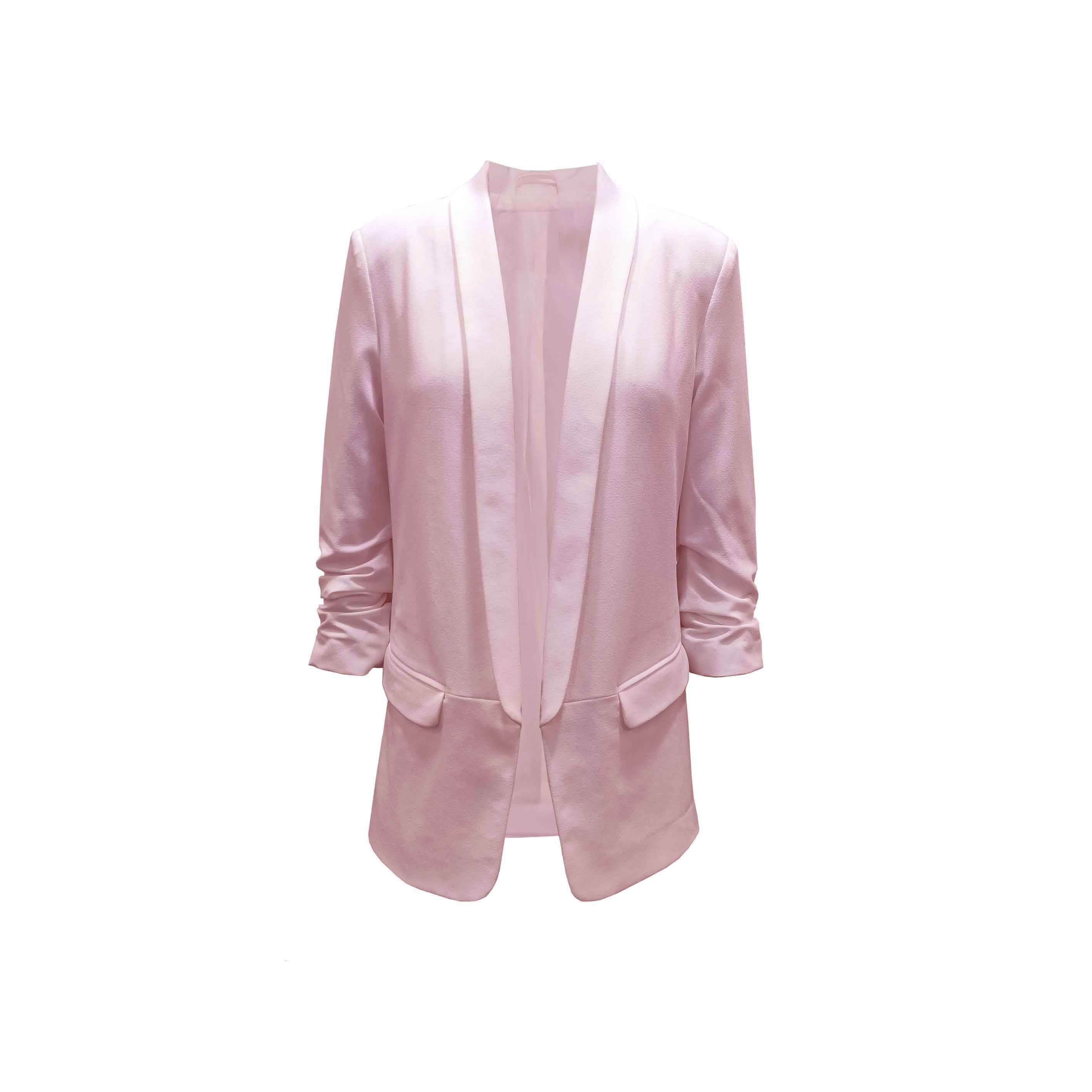 2020 Long Sleeve New Arrival Hot Sale Customized Pink Blazers Ladies Women With Four Colors