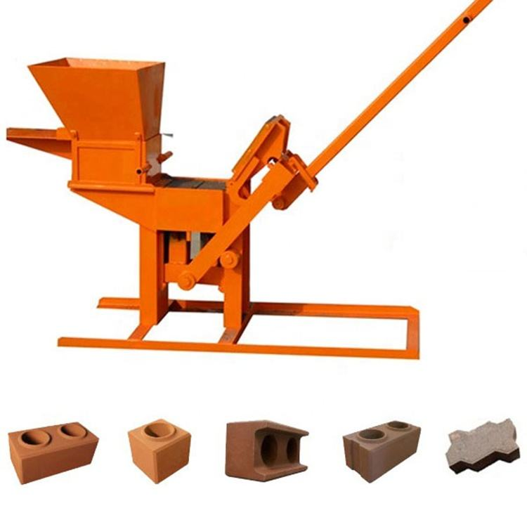 Small soil clay manual lego brick machine QMR2-40 manual interlocking brick machine
