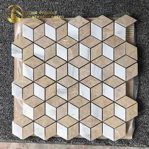60% Off Cheap Tiles Natural Stone Tile Mixed Color Marble Mosaic For House Decoration