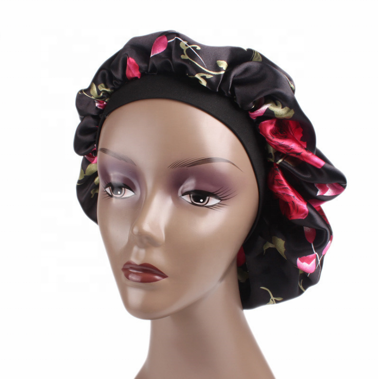Custom triangle bandana head wrap headscarf for promotion durag doorag satin hair bonnet OEM