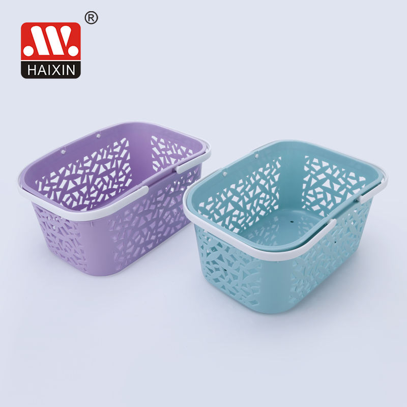Modern plastic basket with Handle for Household