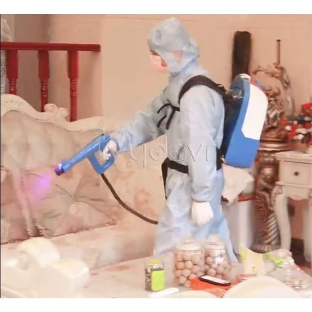 Knapsack Auto Electric Fogger Spray Machine 6L Cordless Electrostatic Backpack Sprayer Gun