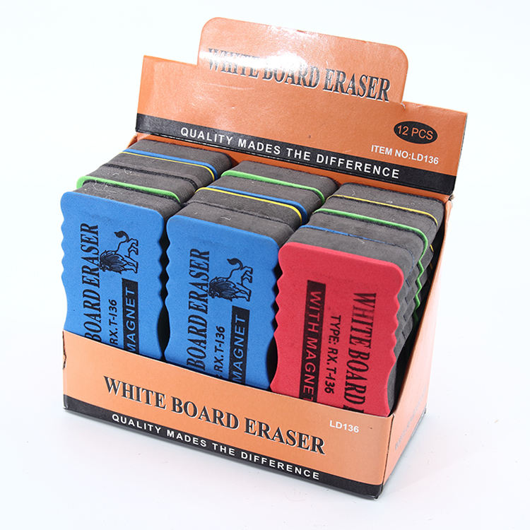 Fashion Design Magnetic White Board Eraser Plastic Assorted Colored EVA Whiteboard Eraser Magnetic