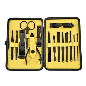 15pcs Manicure Set Trimmer Art Tools Pedicure Grooming Stainless Steel Toe Nail Cutter Nail Clipper