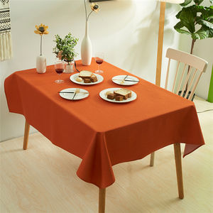 Nordic Simplicity Solid Color Refreshing Waterproof Disposable Custom Party Home Rectangle Dinning Polyester Table Cloth//