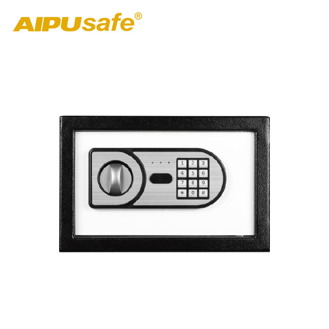 Security Safe AIPU Electronic Safe LS20/ Home Office Safe Box With Silver Brush Keypad Panel/security Storage Box With Contrast Color