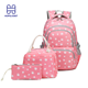 School Logo Bags School Bags Backpack School Bags Teenage Set Customize Logo For Backpack Bag Children 3 Pieces Piece Durable Cute Wholesale Backpacks Girls Pink