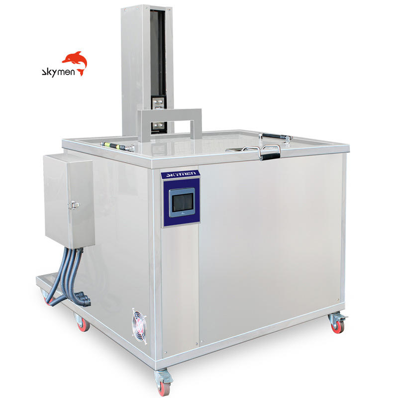 Industrial ultrasonic cleaner with PLC control lift and filtration system for auto parts engine block cylinder washing machine