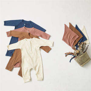 Long sleeve buttons comfortable baby pajamas baby romper for professional manufacturer 2460