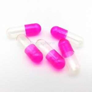 Gold Supplier Pink Clear Color Pharmaceutical Gelatin Empty Capsules Size 4